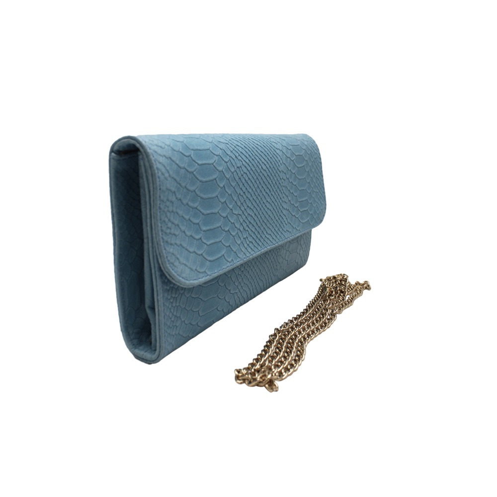 Python Print Clutch -Made in Italy-