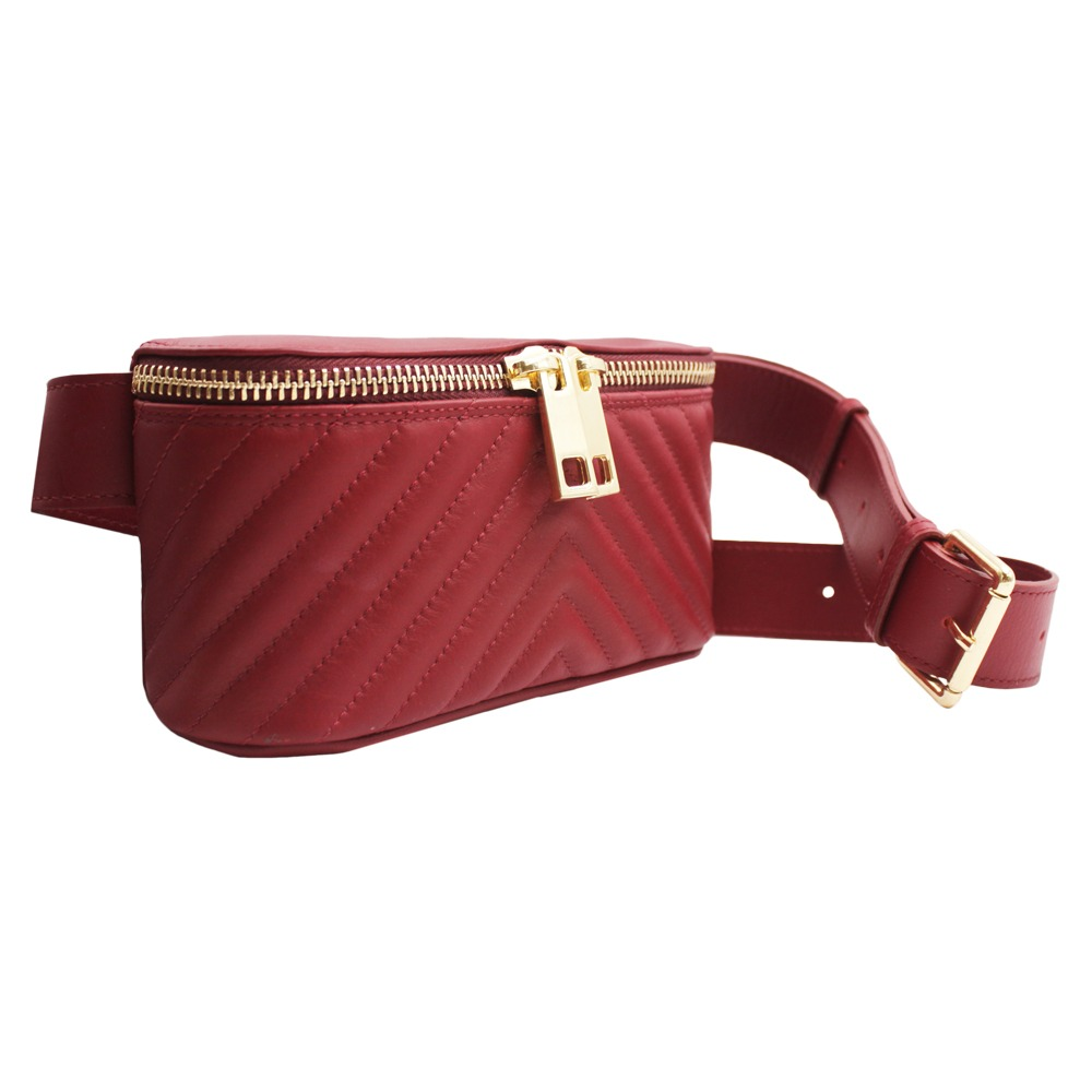 Marsupio in Pelle Trapuntata -Made in Italy- -Made in Italy-