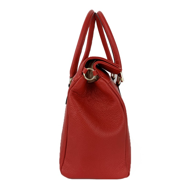 Leather Handbag -Made in Italy-