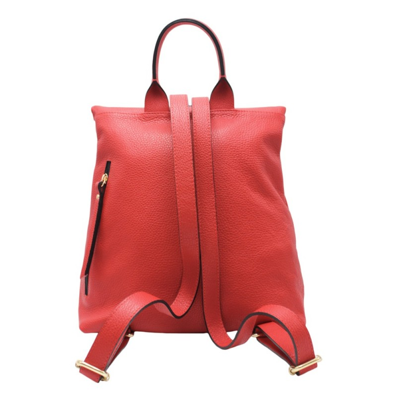 Backpack with Snap Buckle -Made in Italy-