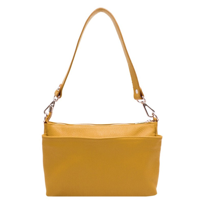 Shoulder Bag with Pockets -Made in Italy-