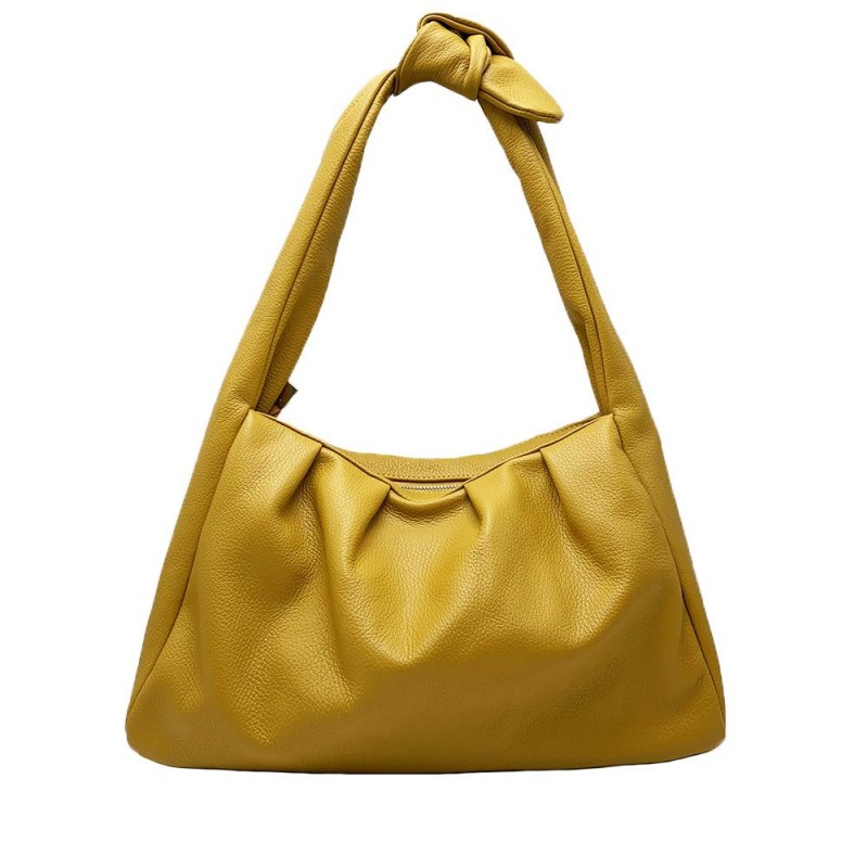 Soft Leather Shoulder Bag -Made in Italy-