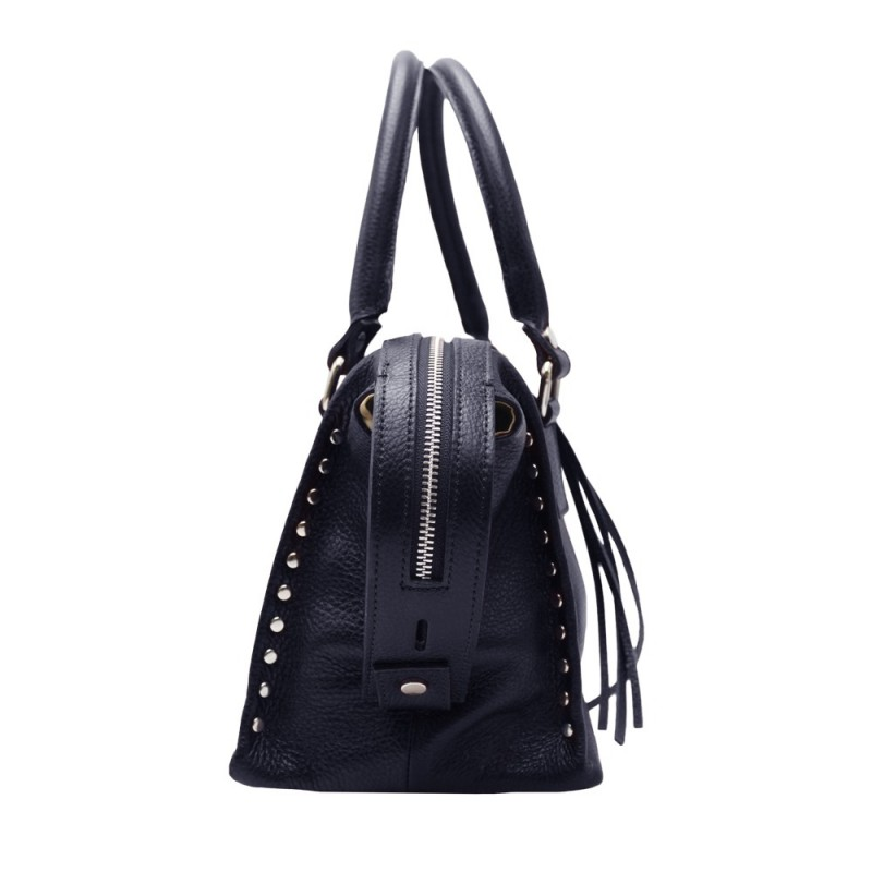 Shoulder Bag with Studs -Made in Italy-