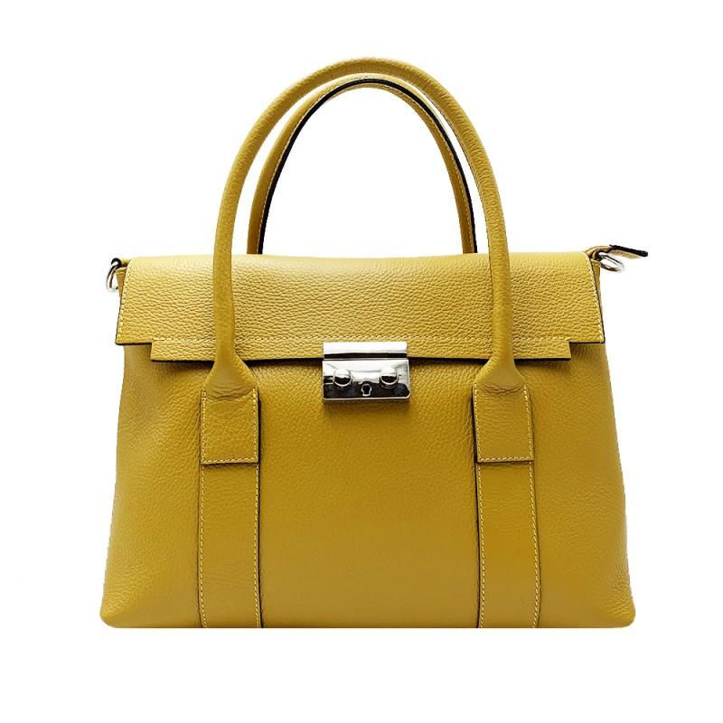 Genuine Leather Handbag -Made in Italy-