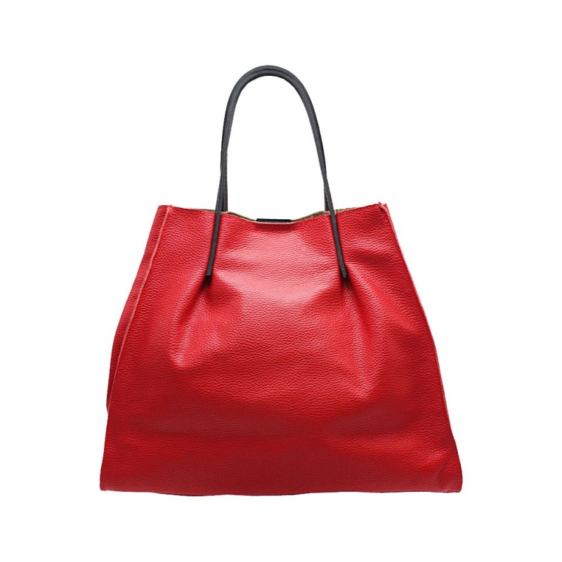 Handmade Leather Shopping Bag -Made in Italy-