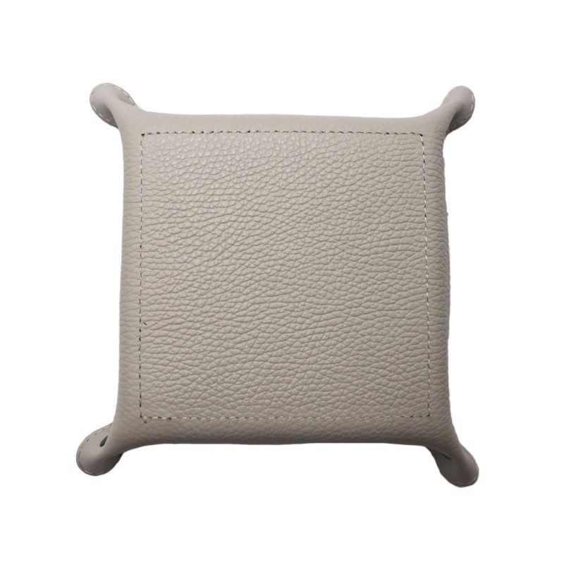 Leather Square Tray -Made in Italy-