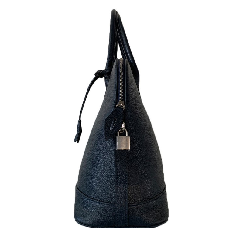 Handbag with Leather Pendant -Made in Italy-