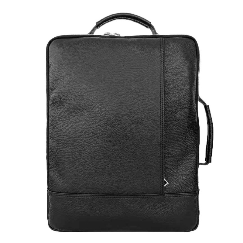 Leather Computer Laptop Backpack -Made in Italy-