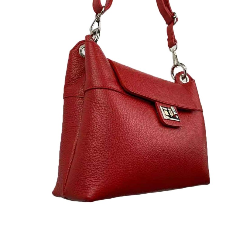 Shoulder bag with flap -Made in Italy-
