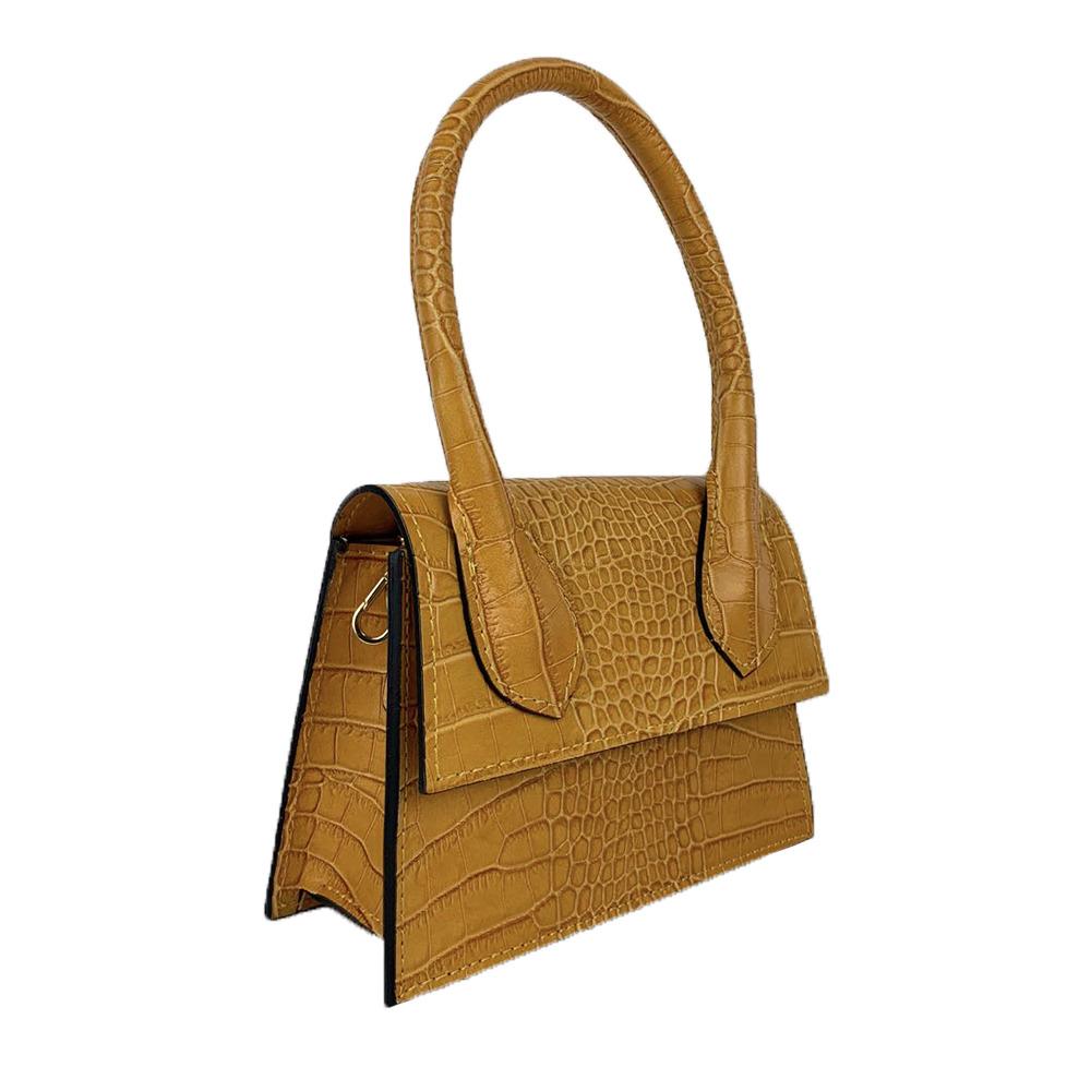 Crocodile effect Mini Handbag -Made in Italy-
