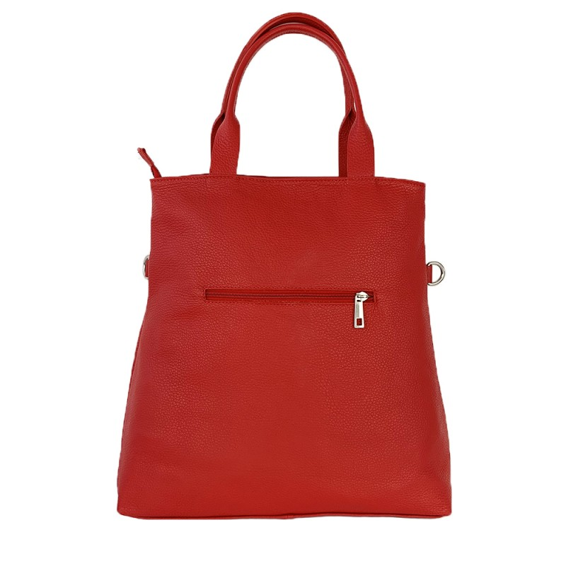 Leather Shopper Bag -Made in Italy-