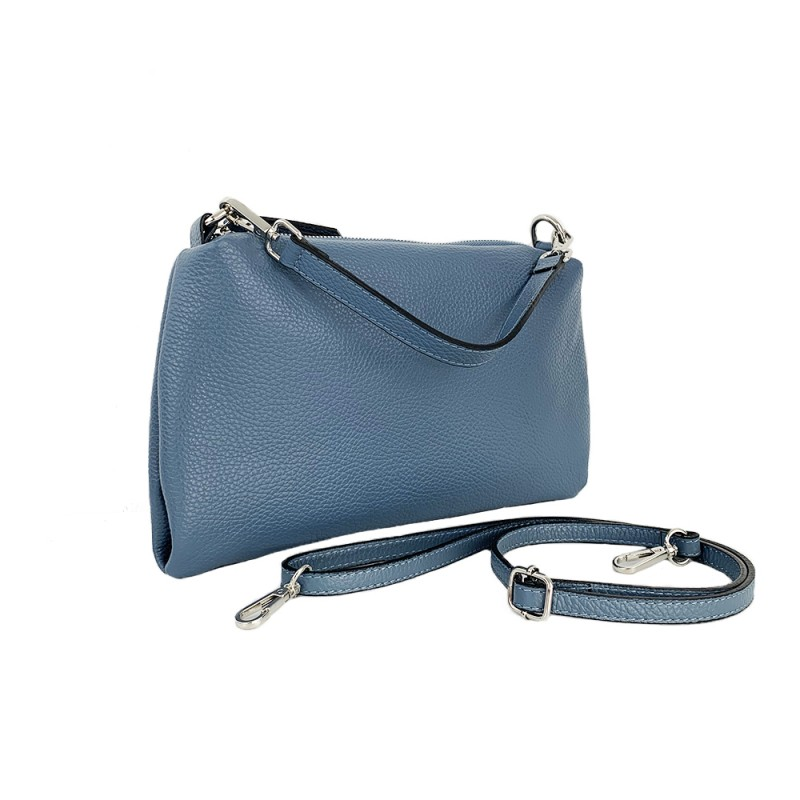 Leather Clutch Bag -Made in Italy-