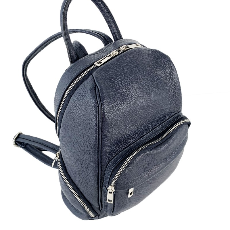 Leather Backpack -Made in Italy-