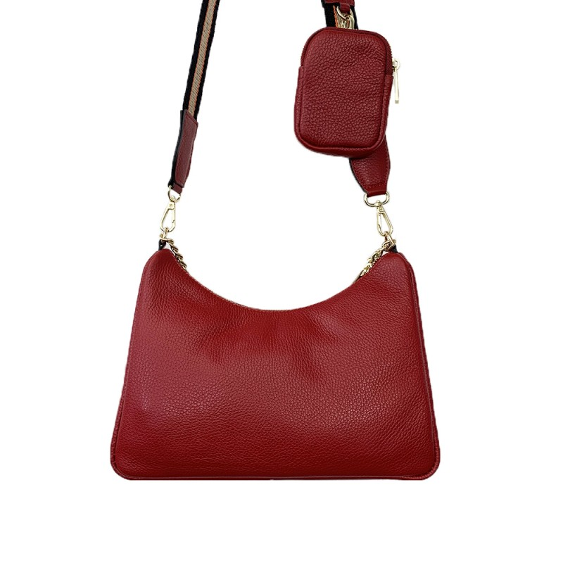 Leather Crossbody/Shoulder Bag -Made in Italy-