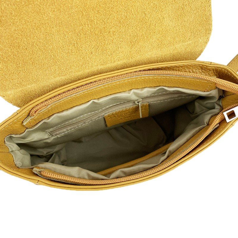 Leather Crossbody Bag -Made in Italy-