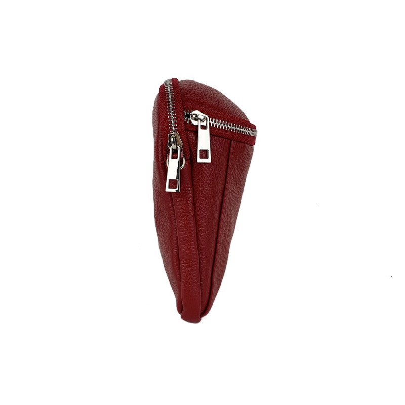 Leather Mobile Phone Holder with Double Compartment