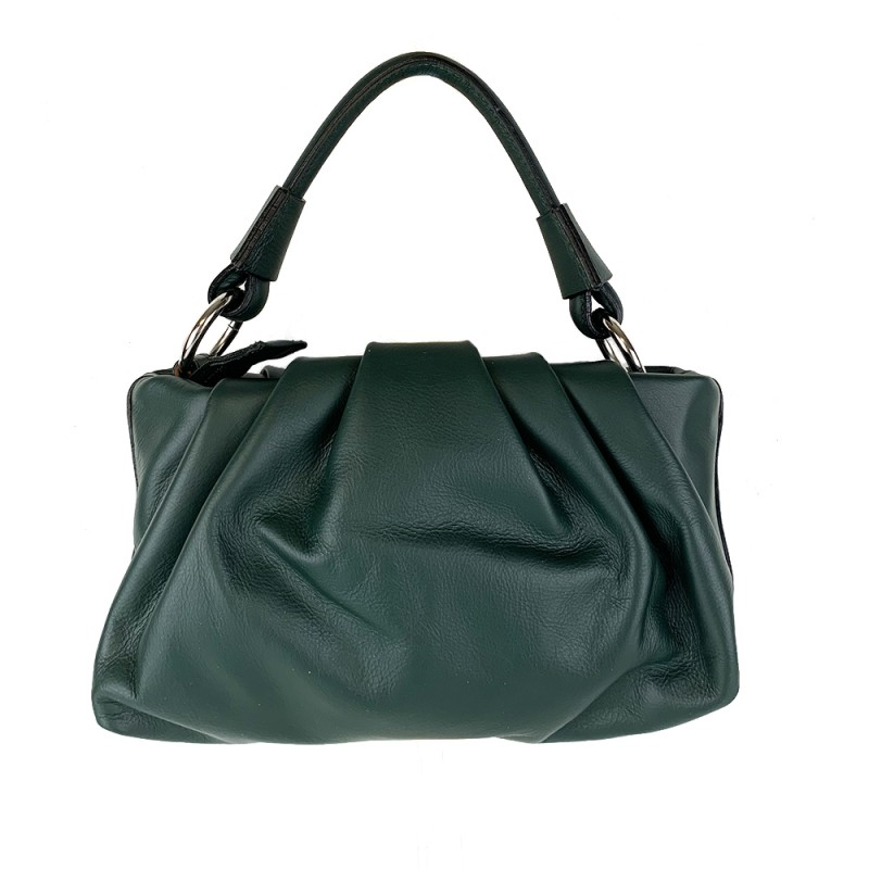 Cloud Shape Leather Handbag -Made in Italy-