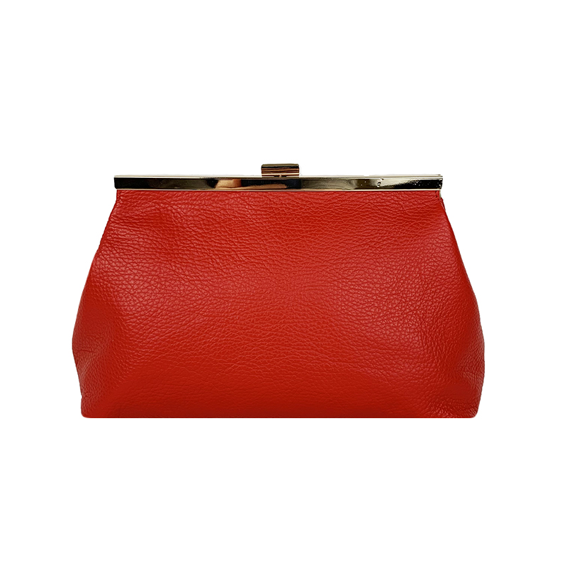 Shoulder Leather Pouch -Made in Italy-