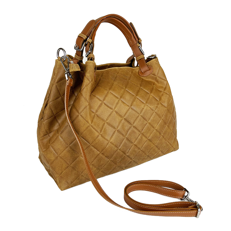Handbag in Quilted Leather -Made in Italy-