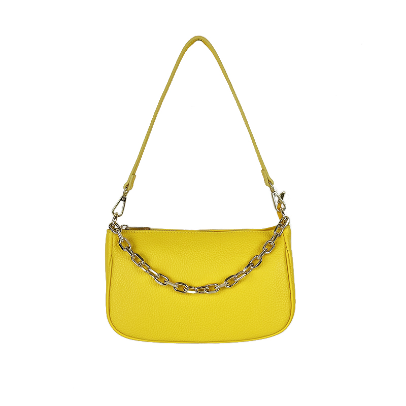 Fashion Leather Shoulder Bag -Made in Italy-