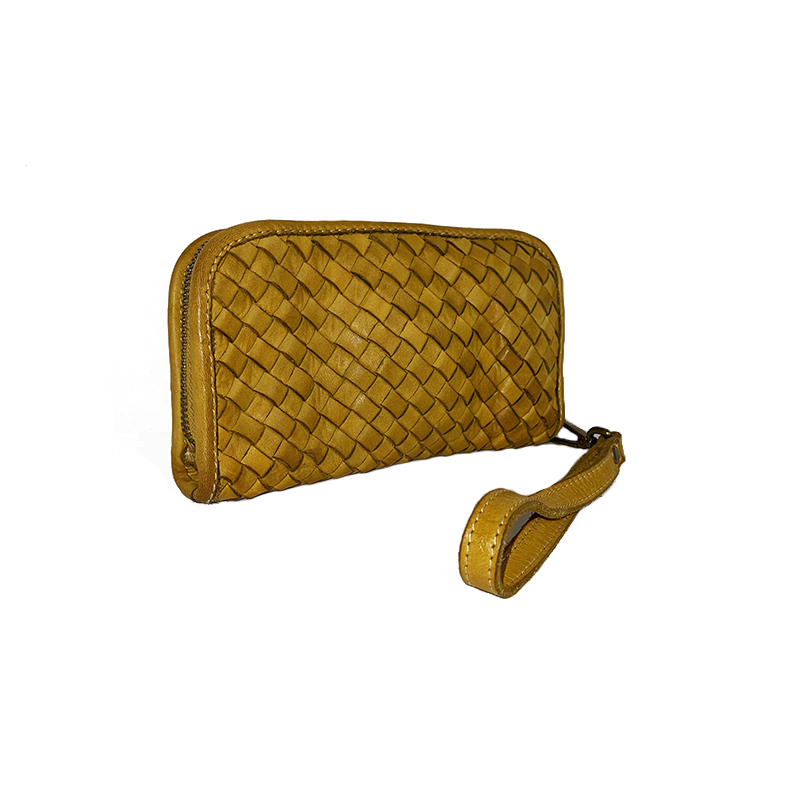 Mini Clutch Bag in Braided Leather -Made in Italy-
