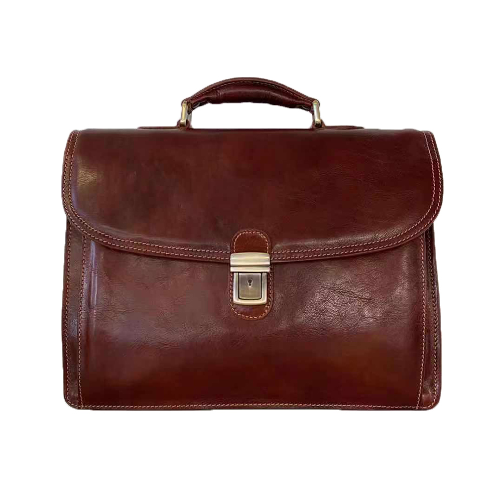 Borsa Business in Pelle Tamponata a Mano -Made in Italy-