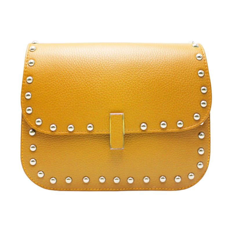 Shoulder Bag with Studs - Made in Italy -